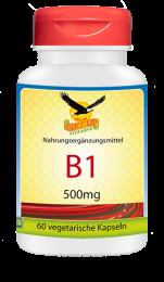 Vitamin B1 a 500mg, 60 veg. Kapseln