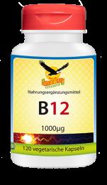 Vitamin B12 a 1000mcg, 120 veg. Kapseln