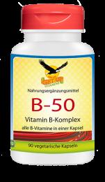 Vitamin B-50   Komplex/Niacinamid, 90 veg. Kapseln