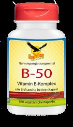 Vitamin B-50 Komplex/Niacinamid, 180 veg. Kapseln