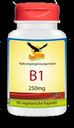 Vitamin B1 a  250mg, 90 veg. Kapseln