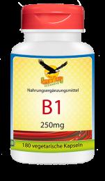 Vitamin B1 a 250mg,  180 veg. Kapseln
