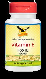 Vitamin E 400 IU natürlich, 180 Softgels
