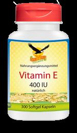 Vitamin E 400 IU natürlich, 300 Softgels