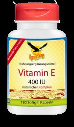 Vitamin E 400 IU Komplex natürlich, 180 Softgels