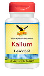Potassium (Kalium) Gluconat a 500mg, 90 veg. Kapseln