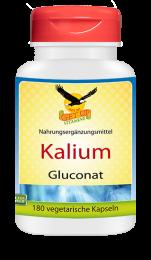 Potassium (Kalium) Gluconat a 500mg, 180 veg. Kapseln