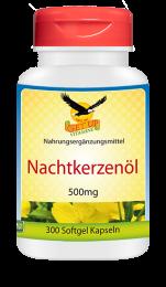 Nachtkerzenöl (Vitamin F) 500mg, 300 Kapseln