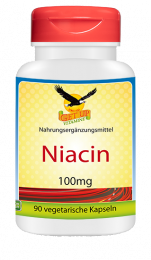 Vitamin B3 Niacin a 100mg,  90 veg. Kapseln