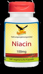 Vitamin B3 Niacin a 100mg, 180 veg. Kapseln