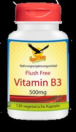 Vitamin B3 Niacinamid a 500mg, 120 veg. Kapseln