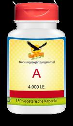 Vitamin A  4000 IU, 150 veg. Kapseln