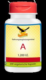 Vitamin A  1200 IU, 200 veg. Kapseln