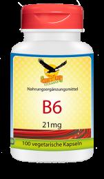 Vitamin B6 a 21mg, 100 veg. Kapseln