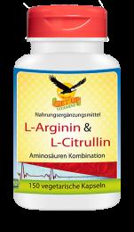 L-Arginin & L-Citrulin, 150 vegetarische Kapseln