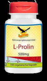 L-Prolin a 500mg, 150 veg. Kapseln