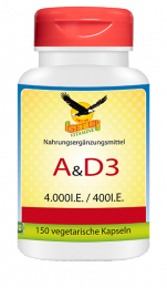Vitamin A 4.000 IE & D3  400 IE  150 Vcaps
