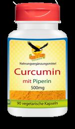 Curcumin mit Piperin a 500mg,  90 Vcaps