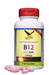 Vitamin B12 a 1000mcg KauBar sublingual, 100 Pastillen