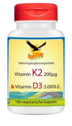 Vitamin K2 Vital MK-7 & Vitamin D3 100 veg Kapseln