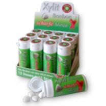 Xylit Bonbons Scharfe Minze, 45 Bonbons